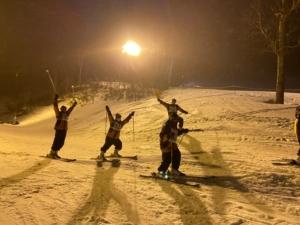 スキーナイター実習風景