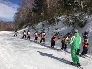 スキー実習風景1