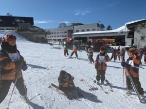 スキー実習風景2