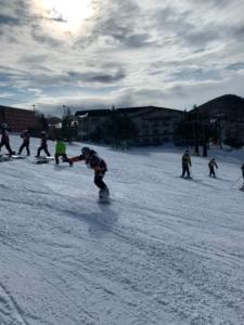 スノーボード実習風景1