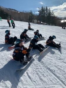 スノーボード実習風景2